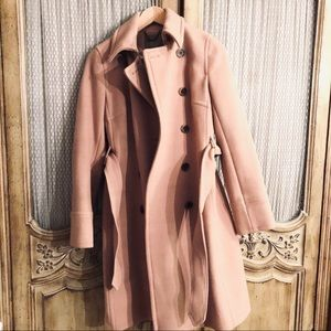 Jcrew wool trench coat with belt